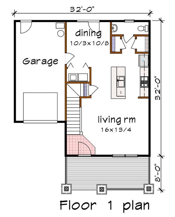 Dream House Plan - Farmhouse Floor Plan - Main Floor Plan #79-257