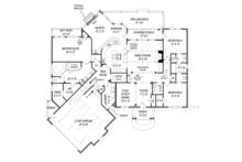 Craftsman Floor Plan - Main Floor Plan Plan #119-422