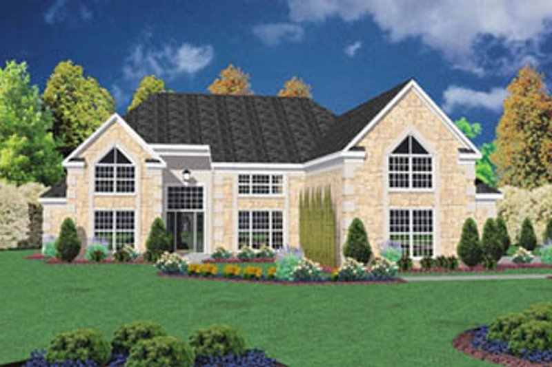 European Exterior - Front Elevation Plan #36-220 - Houseplans.com