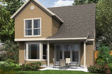 Dream House Plan - Traditional Exterior - Rear Elevation Plan #48-484
