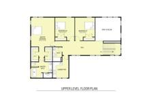 Farmhouse Floor Plan - Upper Floor Plan Plan #1068-3