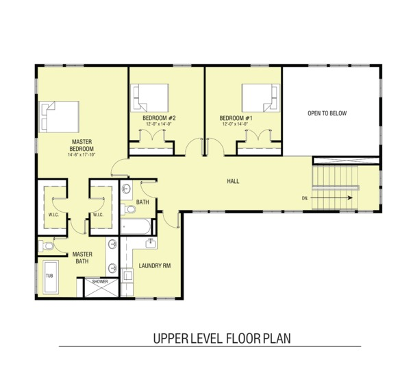 Farmhouse Floor Plan - Upper Floor Plan Plan #1068-3