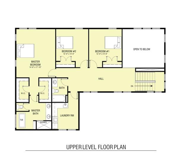Architectural House Design - Farmhouse Floor Plan - Upper Floor Plan #1068-3