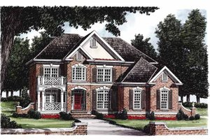 House Plan Design - Colonial Exterior - Front Elevation Plan #927-222