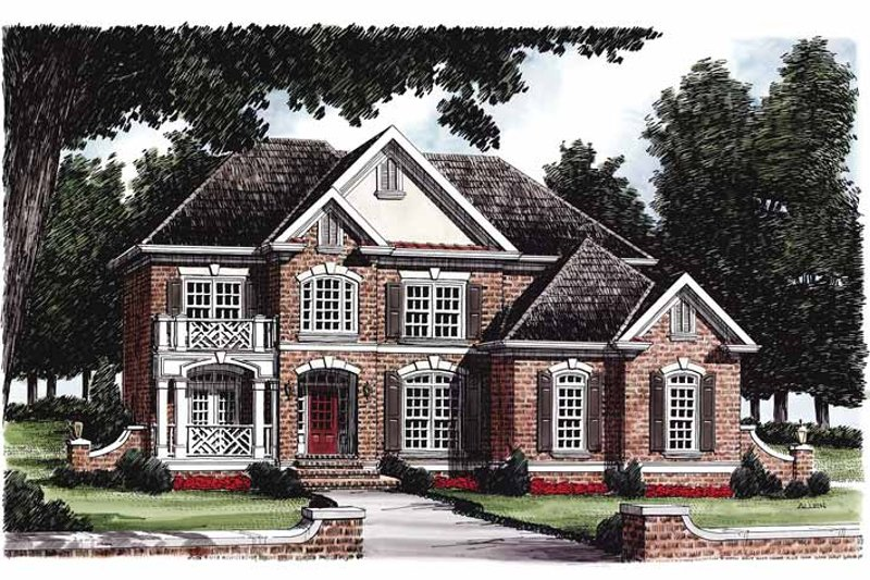 Colonial Exterior - Front Elevation Plan #927-222