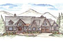 Architectural House Design - Craftsman Exterior - Front Elevation Plan #54-375