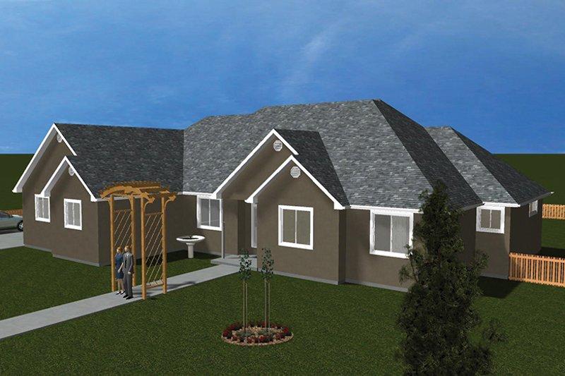 Ranch Exterior - Front Elevation Plan #1060-26 - Houseplans.com