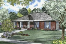 Ranch Exterior - Front Elevation Plan #17-2839