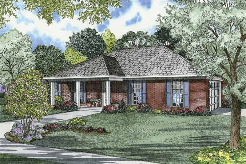 Ranch Exterior - Front Elevation Plan #17-2839 - Houseplans.com
