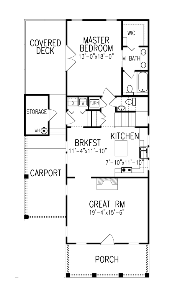 Classical Floor Plan - Main Floor Plan Plan #406-9644
