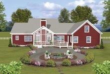Ranch Exterior - Rear Elevation Plan #56-696