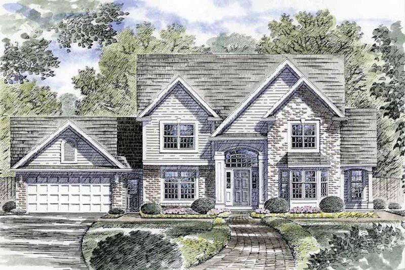 Traditional Exterior - Front Elevation Plan #316-222 - Houseplans.com