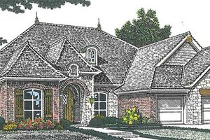 European Exterior - Front Elevation Plan #310-1263