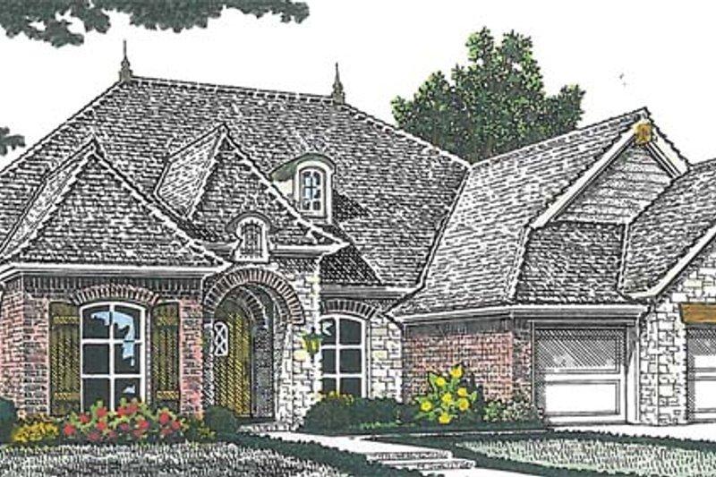 Home Plan - European Exterior - Front Elevation Plan #310-1263