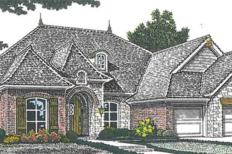 Dream House Plan - European Exterior - Front Elevation Plan #310-1263