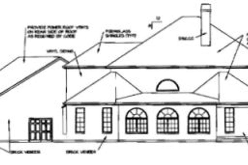 Southern Exterior - Rear Elevation Plan #325-244 - Houseplans.com