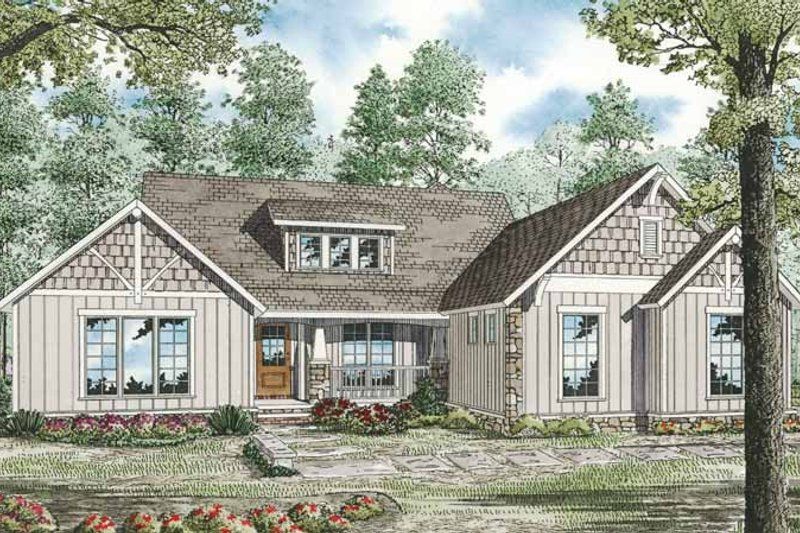 Country Exterior - Front Elevation Plan #17-3289 - Houseplans.com