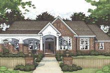 Home Plan - European Exterior - Front Elevation Plan #120-239
