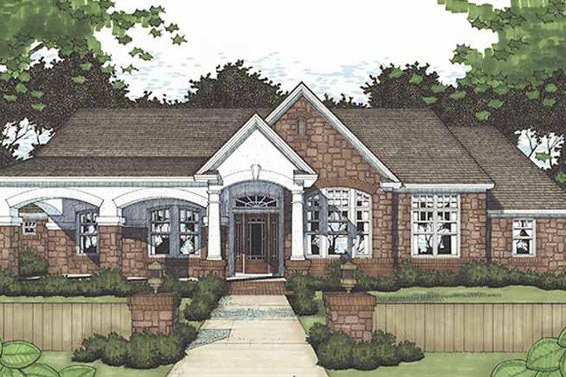 House Plan Design - European Exterior - Front Elevation Plan #120-239