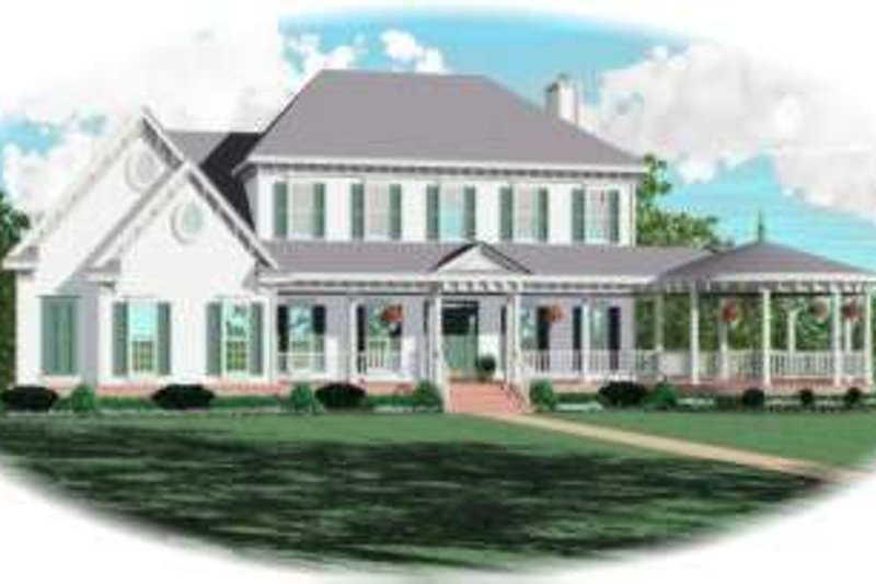Traditional Style House Plan - 4 Beds 4 Baths 3546 Sq/Ft Plan #81-1152 Exterior - Front Elevation