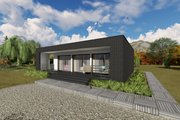 Modern Style House Plan - 1 Beds 1 Baths 681 Sq/Ft Plan #549-7 Exterior - Front Elevation