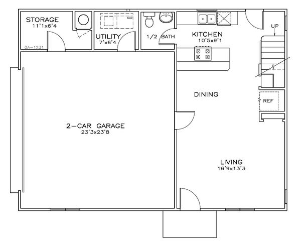 Dream House Plan - Southern Floor Plan - Lower Floor Plan #8-312