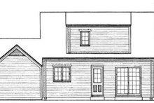 Colonial Exterior - Rear Elevation Plan #72-317