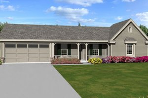 Ranch Exterior - Front Elevation Plan #81-13863
