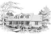 Traditional Style House Plan - 3 Beds 3.5 Baths 4196 Sq/Ft Plan #10-202 Exterior - Front Elevation