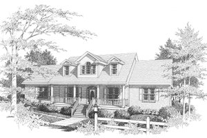Dream House Plan - Traditional Exterior - Front Elevation Plan #10-202
