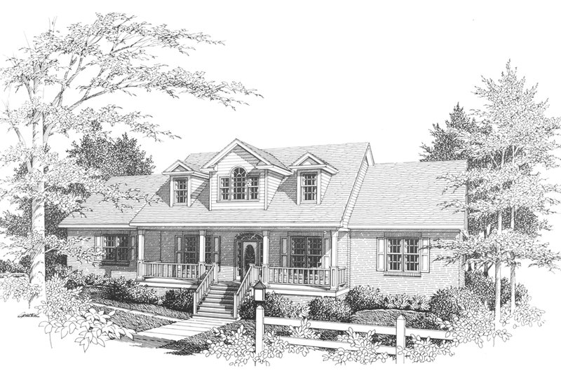 House Plan Design - Traditional Exterior - Front Elevation Plan #10-202