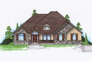 European Style House Plan - 5 Beds 4 Baths 2061 Sq/Ft Plan #5-266 Exterior - Front Elevation