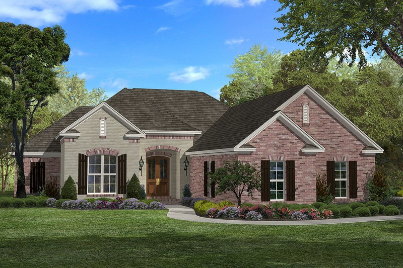 Traditional Exterior - Front Elevation Plan #430-60 - Houseplans.com