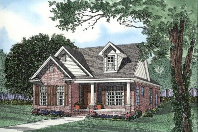 Architectural House Design - Southern Exterior - Front Elevation Plan #17-1074