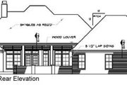 European Style House Plan - 4 Beds 3.5 Baths 2880 Sq/Ft Plan #15-148 Exterior - Rear Elevation