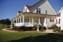 Dream House Plan - Farmhouse Exterior - Front Elevation Plan #56-205