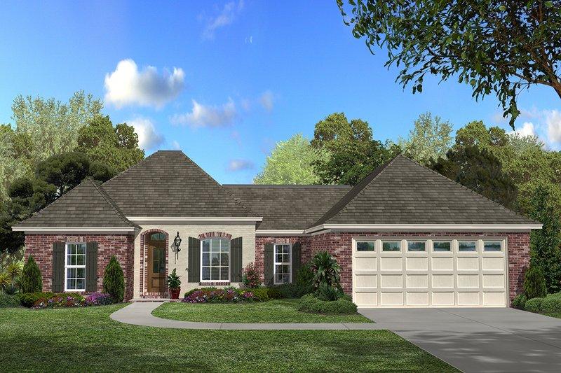 Home Plan Design - European Exterior - Front Elevation Plan #430-53