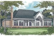 Colonial Style House Plan - 3 Beds 3.5 Baths 2774 Sq/Ft Plan #453-33 Exterior - Rear Elevation