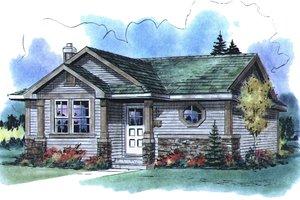 Cottage Exterior - Front Elevation Plan #18-1049