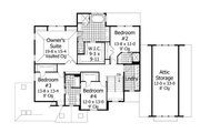 House Plan - 4 Beds 3.5 Baths 3883 Sq/Ft Plan #51-544 Floor Plan - Upper Floor Plan