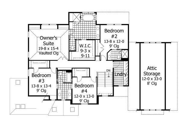 Floor Plan - Upper Floor Plan Plan #51-544