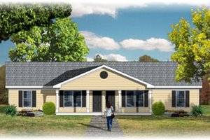 Traditional Exterior - Front Elevation Plan #26-127
