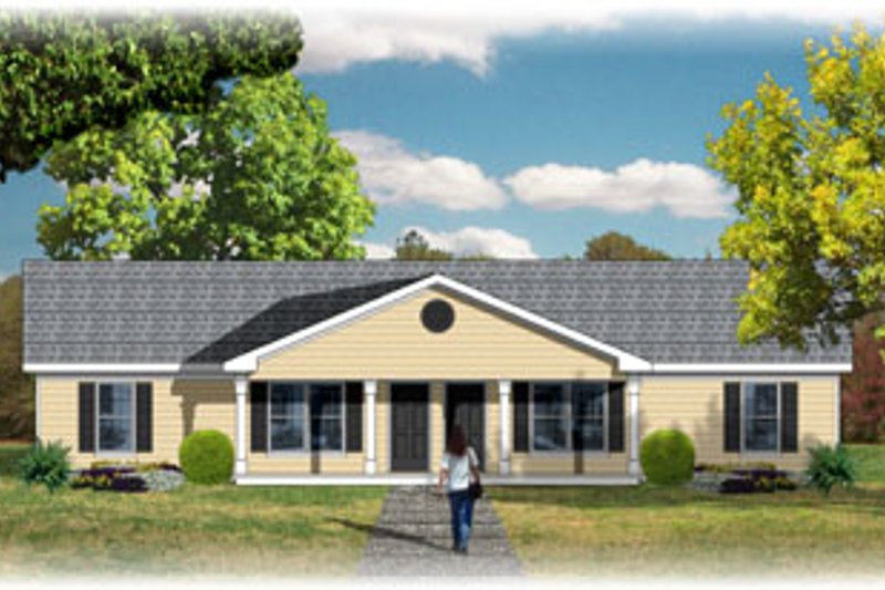 Traditional Style House Plan - 2 Beds 1 Baths 1560 Sq/Ft Plan #26-127 Exterior - Front Elevation