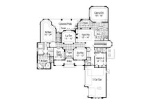 European Floor Plan - Main Floor Plan Plan #417-436