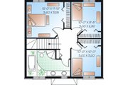 European Style House Plan - 3 Beds 2 Baths 1365 Sq/Ft Plan #23-732