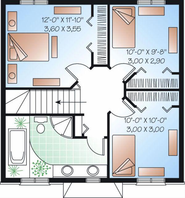 European Floor Plan - Upper Floor Plan Plan #23-732