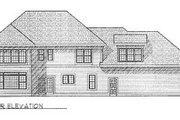 Traditional Style House Plan - 4 Beds 2.5 Baths 2868 Sq/Ft Plan #70-461 Exterior - Rear Elevation