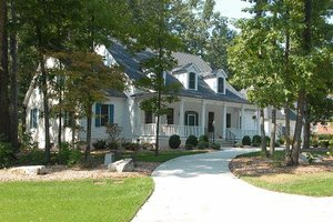 Front View - 4500 square foot Country home