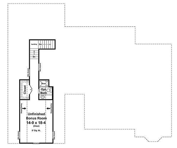 Craftsman Floor Plan - Upper Floor Plan Plan #21-312