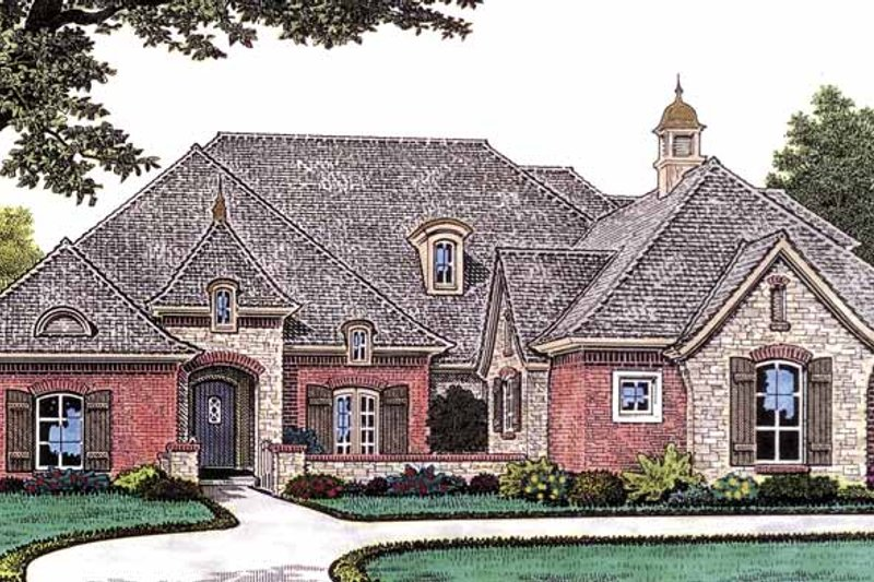 Dream House Plan - Country Exterior - Front Elevation Plan #310-1231